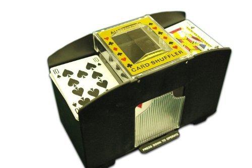 418rQRzxU+L - Poker Kartenmischer Kartenmischmaschine für 4 Decks