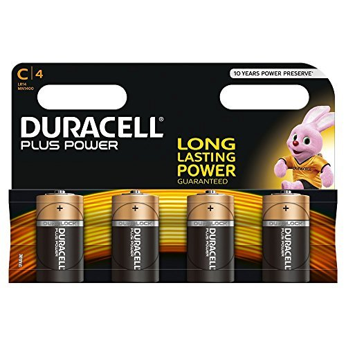 duracell plus power typ c alkaline batterien 4er pack - Duracell Plus Power Typ C Alkaline Batterien, 4er Pack