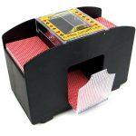 Elektrischer Kartenmischer Automatische Kartenmischmaschine Karten Mischmaschine XXL für 4 Decks